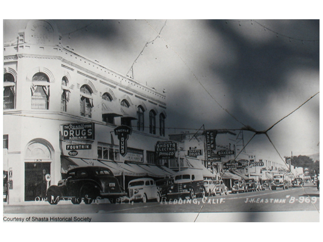 Historic photo of downtown Redding